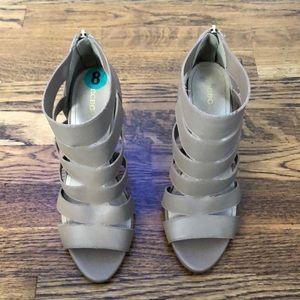 Bcbg taupe heels